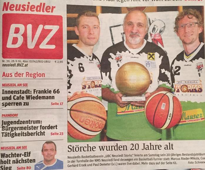 Turnier BVZ Titelseite